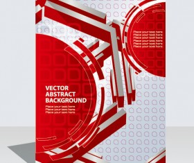 Abstract folder design vector background 03