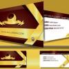 Stylish Creative cards free vector 02