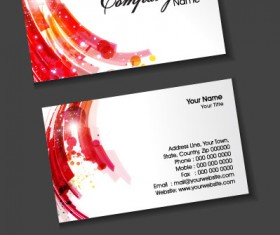 Stylish Creative cards free vector 09