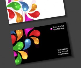 Stylish Creative cards free vector 010