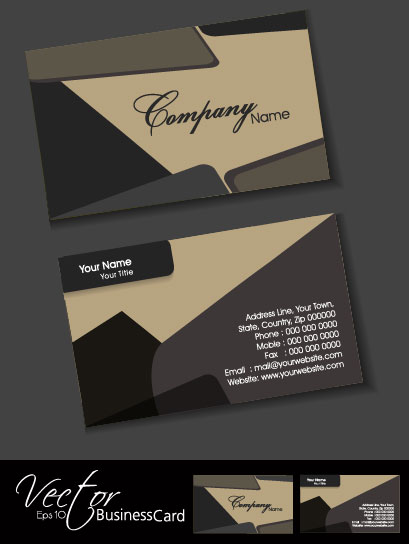Exquisite Business Cards Design Elements Vector 01