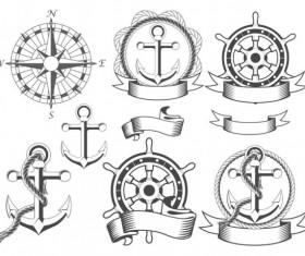 Navigation design elements vector  Labels 01
