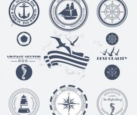 Navigation design elements vector  Labels 02
