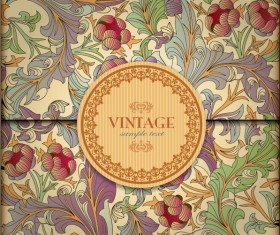 Ornate Floral vector background 01