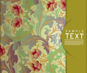 Ornate Floral vector background 03