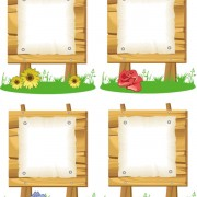 Link toWooden signboards vector background 05
