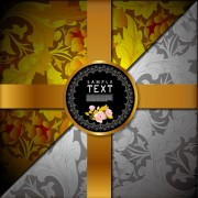Link toOrnate floral vector background 06
