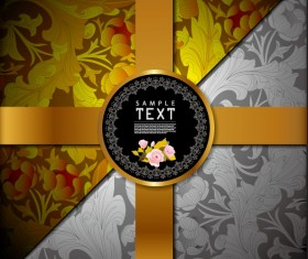 Ornate Floral vector background 06
