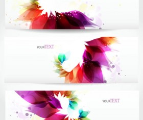 Abstract Stylish vector banner 01