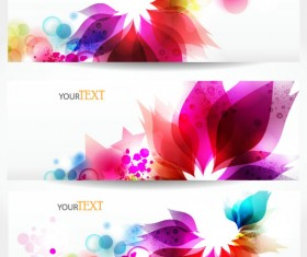 Abstract Stylish vector banner 03