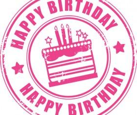 Happy Birthday design elements free vector 01