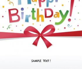 Happy Birthday design elements free vector 03