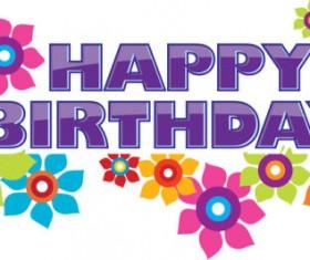 Happy Birthday design elements free vector 04