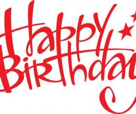 Happy Birthday design elements free vector 05