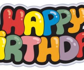Happy Birthday design elements free vector 06