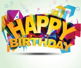 Happy Birthday design elements free vector 07