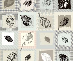 Set of vintage Leaf free vector Pattern