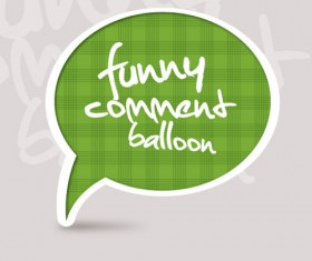 Set of funny Speech Bubbles vector 02
