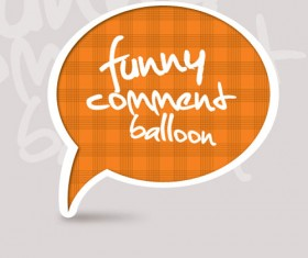 Set of funny Speech Bubbles vector 03