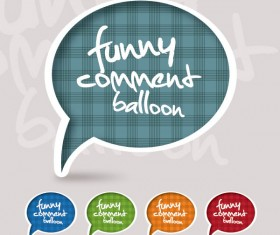 Set of funny Speech Bubbles vector 05