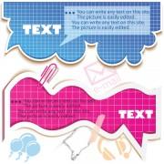 Link toHollow clouds vector label 01