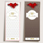 Link toRed bow label cards vector 01