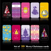 Link toSet of merry christmas cards vector