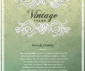 Vintage Cover the background free vector 01