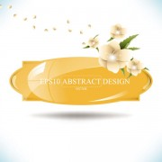 Link toAbstract foliage & flowers vector labels 02