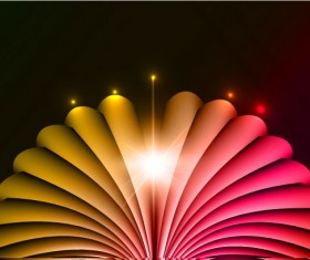 Set of Abstract light vectot background 04