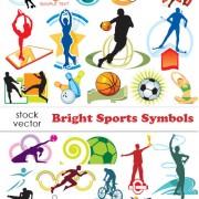 Link toSet of sports symbols vector