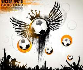 Football theme Poster vector 04