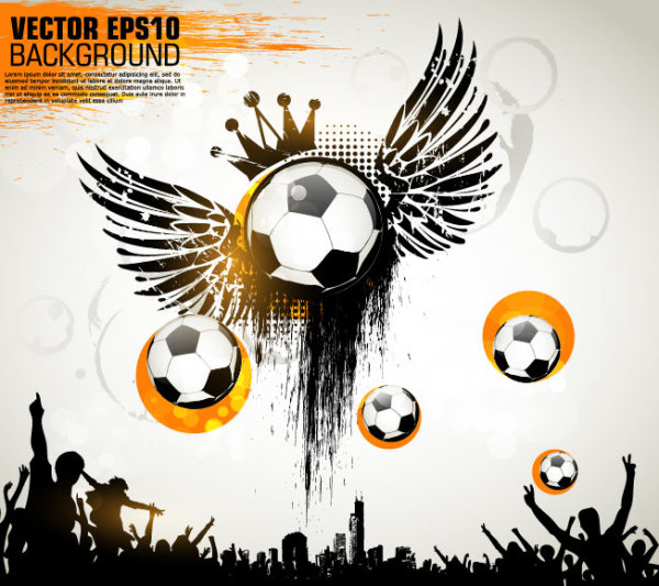Football theme Poster vector 04