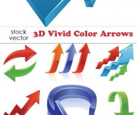 free vector 3D Color Arrows