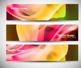 Abstract Colorful design elements banner vector 02