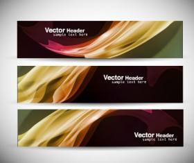 Abstract Colorful design elements banner vector 03