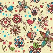 Link toCute cartoon decorative pattern background vector 01