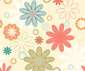 cute cartoon Decorative pattern background vector 02