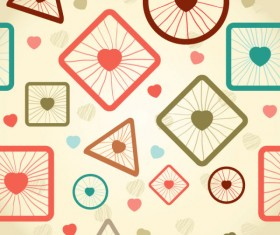 cute cartoon Decorative pattern background vector 03
