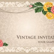 Link toVintage invitation cards background vector 01