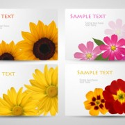 Link toWith flowers cards vector template 03