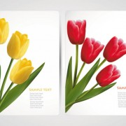 Link toWith flowers cards vector template 05