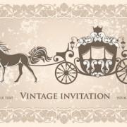 Link toVintage invitation cards background vector 03
