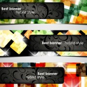 Link toSet of hybrid style vector banner 05