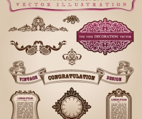 vintage Classic Borders vector 01