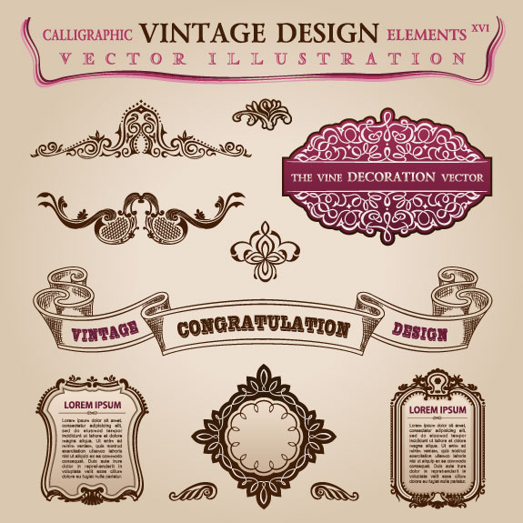 vintage classic borders vector 01 free download
