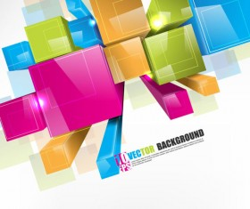 Creative Colorful Cube vector background