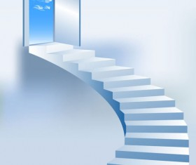 Creative Stairs background vector 02