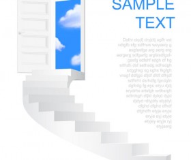 Creative Stairs background vector 03