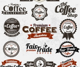Classic coffee elements free vector 01